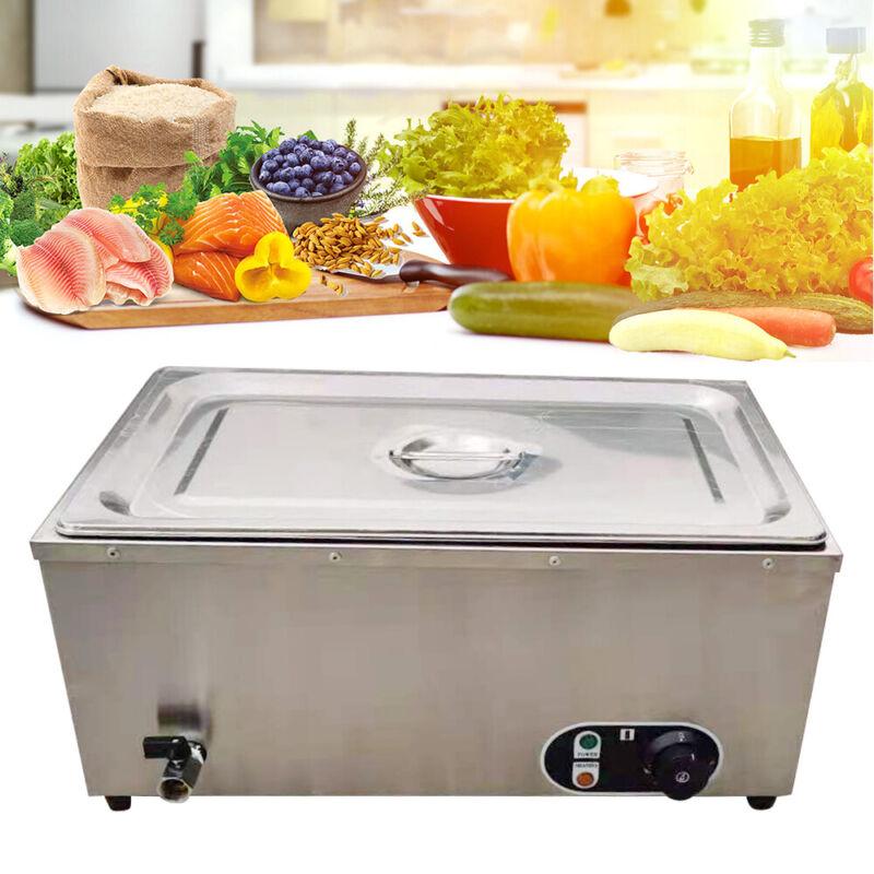 Commercial Stainless Buffet Food Warmer Steam Table Tea Restaurant Equipment USA