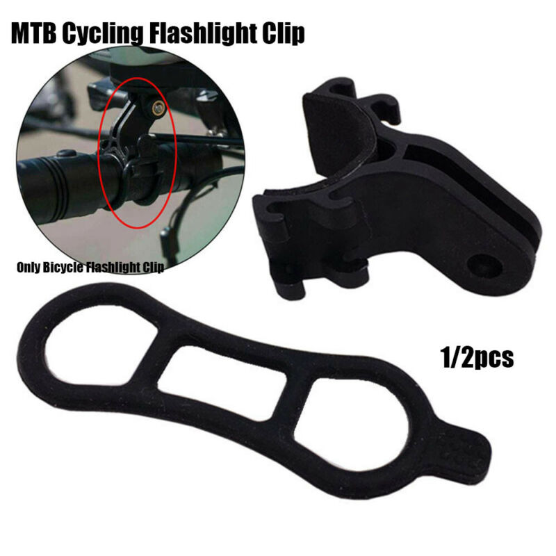 Bike Accessories Torch Flashlight Clip Bicycle Light Holder Bracket Adapter