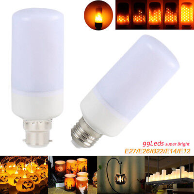 (LED Burning Flicker Flame Effect Fire Light Bulb E27 E14 E12 B22 Decorative Lamp)