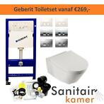 Complete toilet set Geberit incl. reservoir wc pot AKTIE!