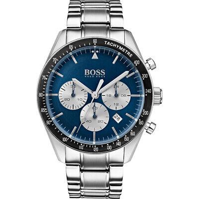 GENUINE Hugo Boss HB1513630 Trophy Chronograph Blue Dial Men's Watch ~£350~