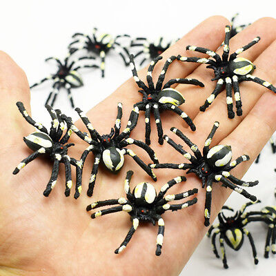 1/5/10Pcs Fake Spider Scary Halloween Party Stage Prank Joke Toy Gifts Funny - Halloween Scary Jokes