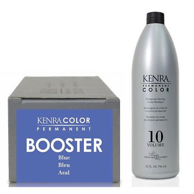 Kenra Permanent Hair Colour Booster Blue 85g + Cream Developer 1ltr **DEAL**