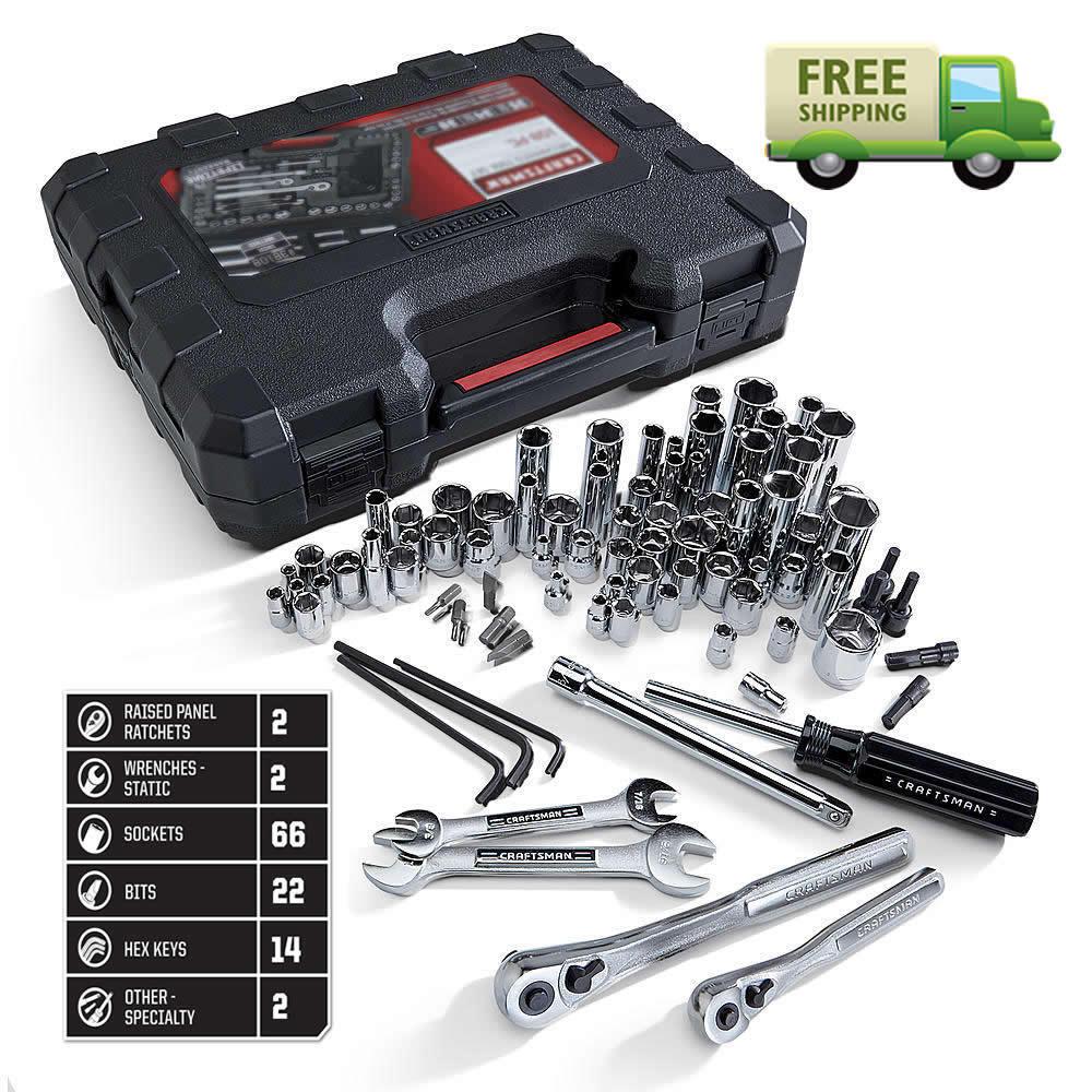 New Craftsman 108 Pc Piece SAE Metric Mechanics Tool Set Too