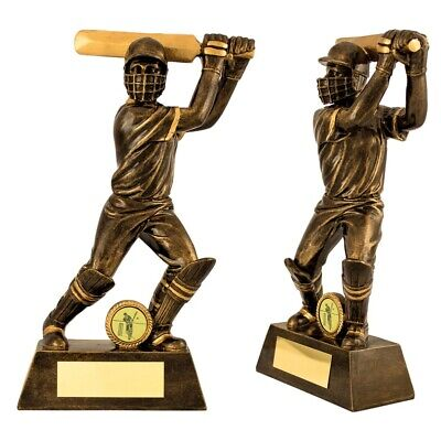 Resin Cricket (Cricket Trophies Resin Cricket Batsman Figure Awards 3 sizes FREE Engraving )