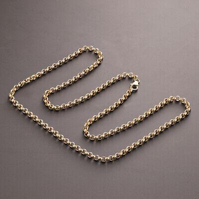 "9ct Gold Round Link Belcher Chain - 24"" - 4 mm - RRP £470 - 0% FINANCE OPTION"
