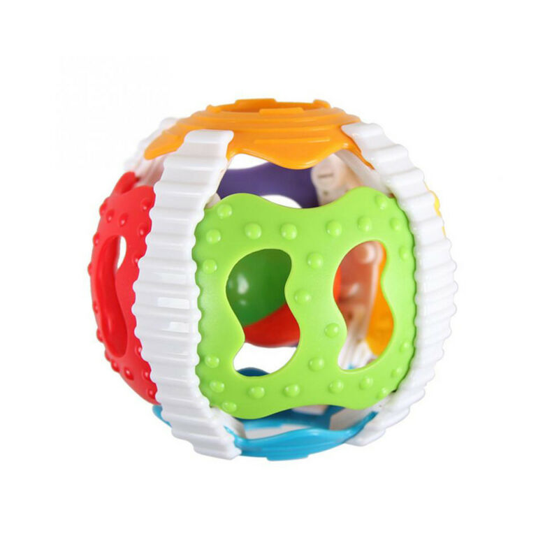 Plastic Handrattle Ball Toys Baby Rattles Handbell Kid Puzzle Educational Toys