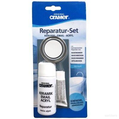 Reparaturset Reparaturlack sanitärweiß Keramik Email Acryl Reparatur Emaille
