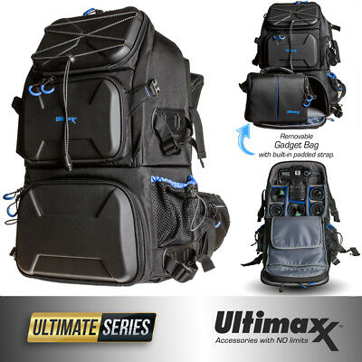 Professional Heavy Duty Deluxe Camera Backpack with Waterproof Rain Cover