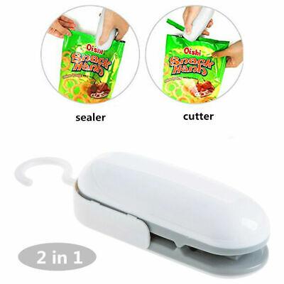 2in1 Sealercutter Portable Resealer Heat Sealing Machine Mini Plastic Snack Bag
