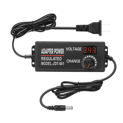 Adjustable Voltage 3 To 12v 5a Ac Dc Switch Power Supply Adapter Led Display