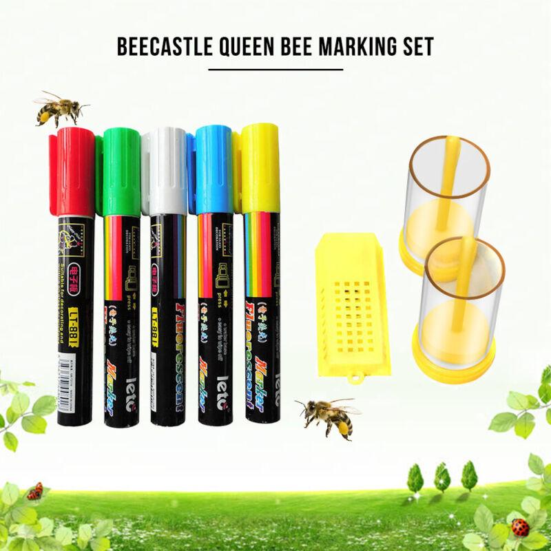 8pcs Beekeeper Queen Bee Marking Pen Marker Paint Tool Set Beekeeping Tools