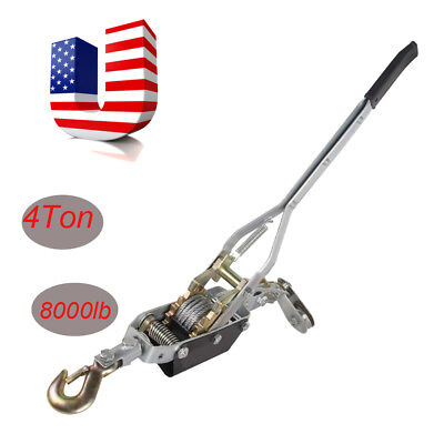 4 Ton Hand Puller Cable Puller Pulling Hand Power Winch Hoist Ratcheting