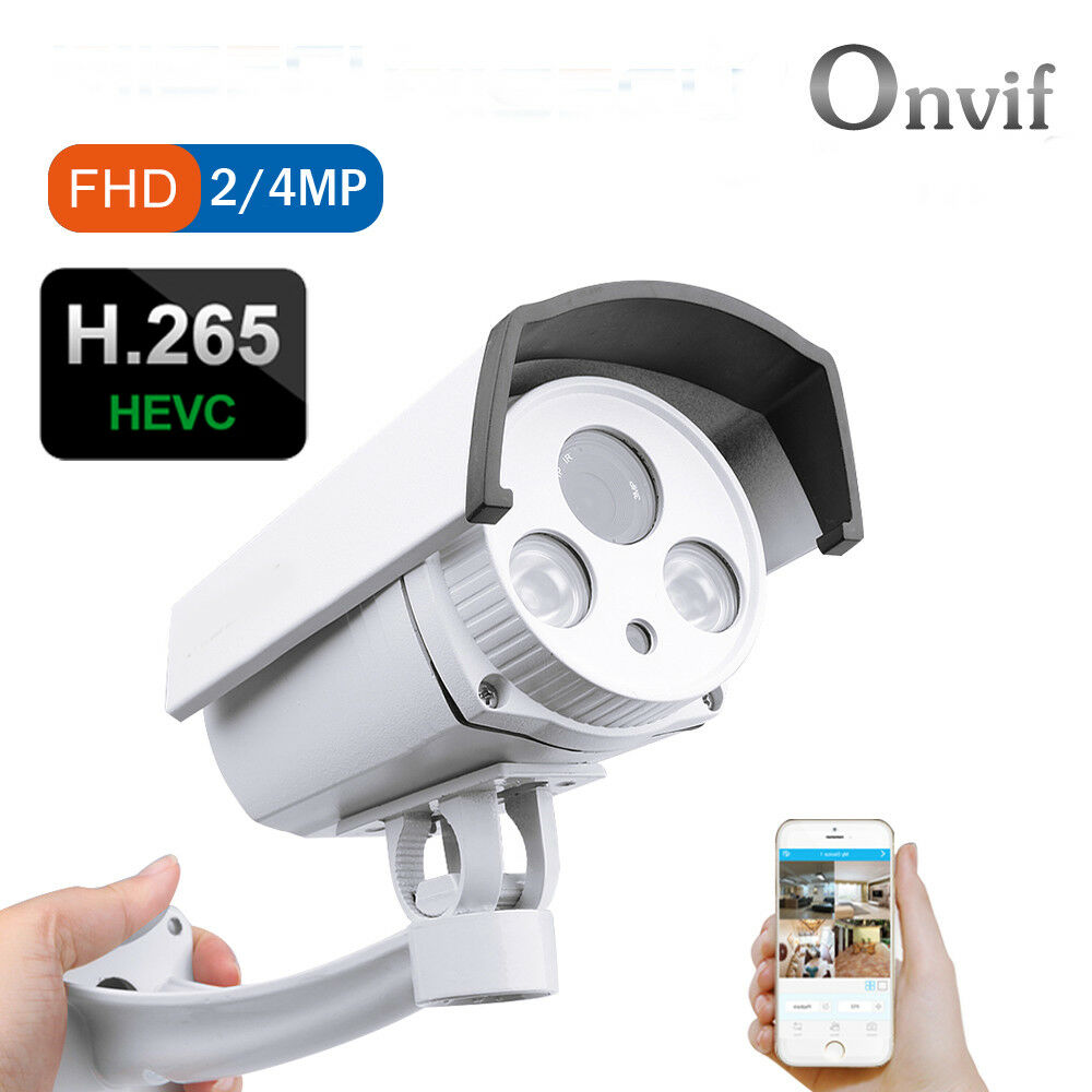 Details about 2/4MP H 265/H 264 CCTV Array LED Night Vision Security IP  Camera ONVIF XMEYE