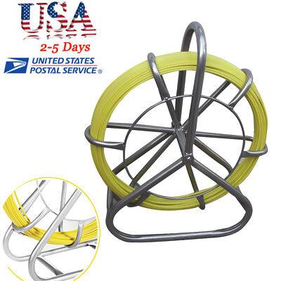Fiberglass Wire Cable Rod Duct Rodder Fishtape 6mm 130m Usa Ups Shipping