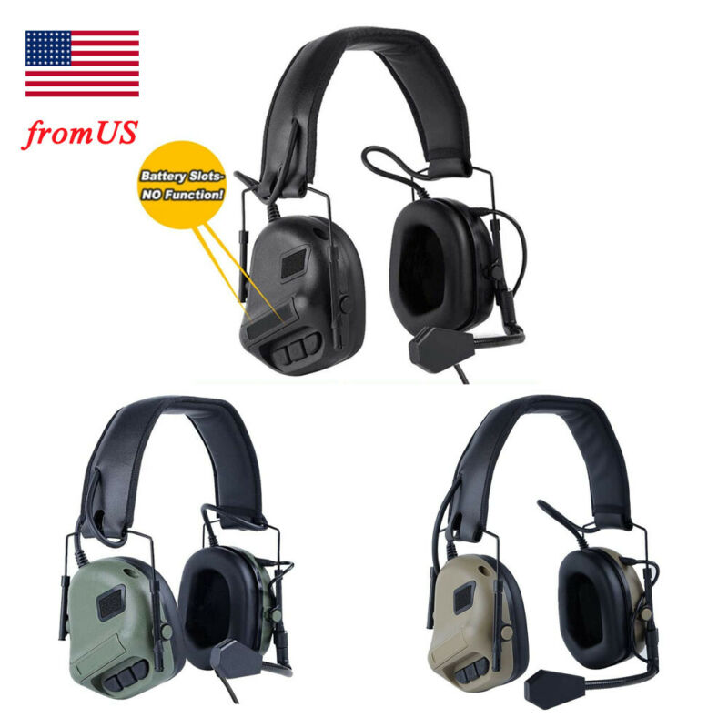 Tactical Military Headset Ear Protection Comtac Headphone Hunting Shooting USA