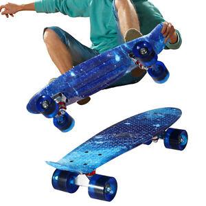 100kg Load Retro Skateboard Starry Sky Pattern Cool Mini Board Penny Style 22