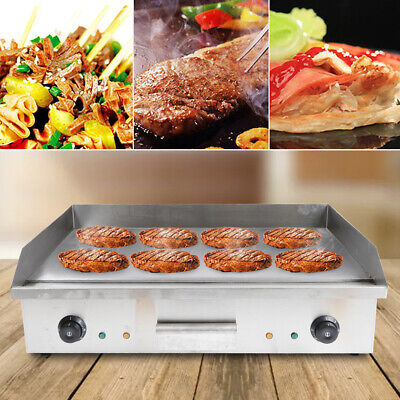 Electric Grill Griddle 4.4kw Commerical Countertop Griddle Flat Hotplat 110v