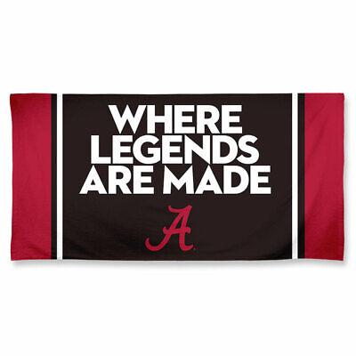 Alabama Crimson Tide Towel - ALABAMA CRIMSON TIDE LEGENDS SPECTRA BEACH TOWEL 30