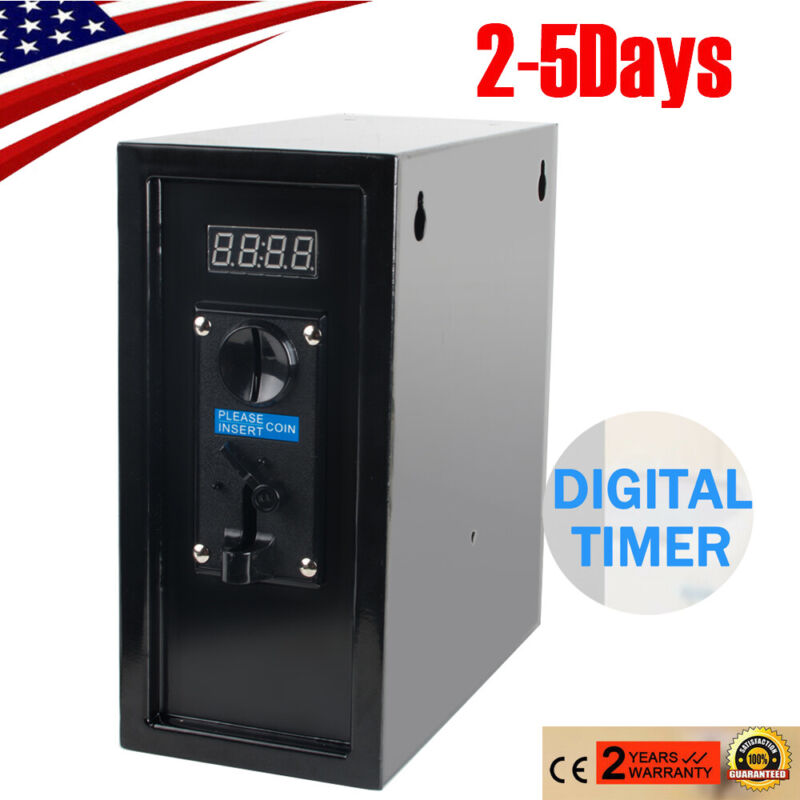 110V Coin Operated Timer Control Box Electronic Coin Selector Acceptor Machine