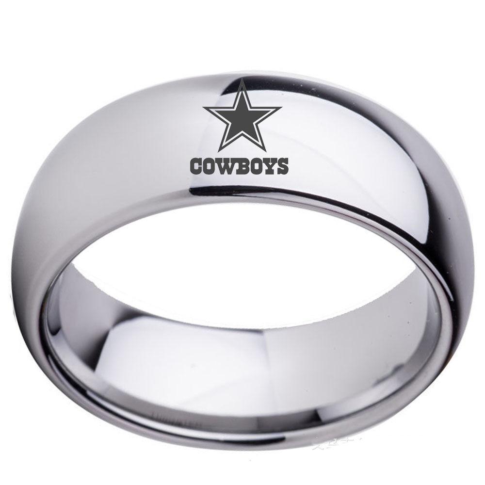 Купить Dallas Cowboys Football Team Stainless Steel Rings Men Women Size 6-13 Silver