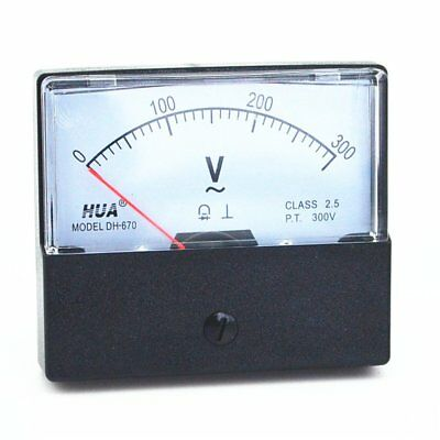 1pc Ac Analog Meter Panel Voltmeter Voltage Meter Dh-670 0-300v Gauge