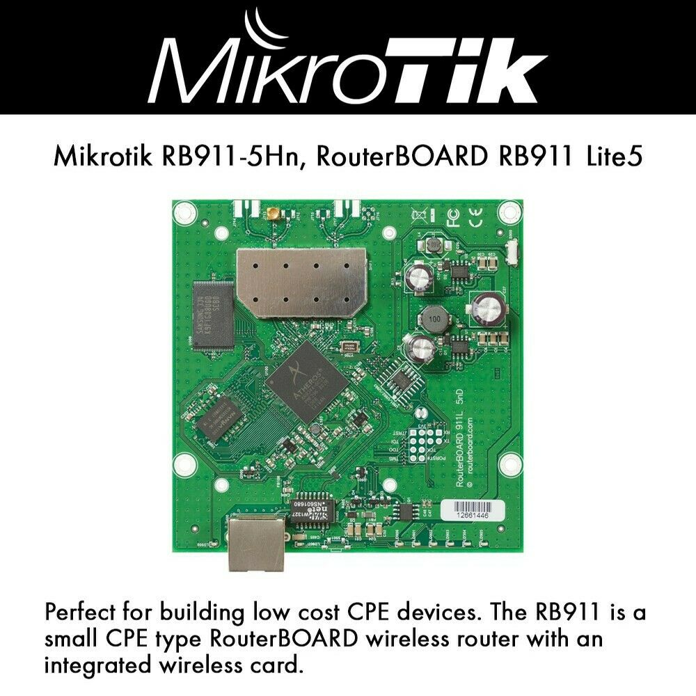 Mikrotik RB911-5Hn, RouterBOARD RB911 Lite5 5GHz integrated