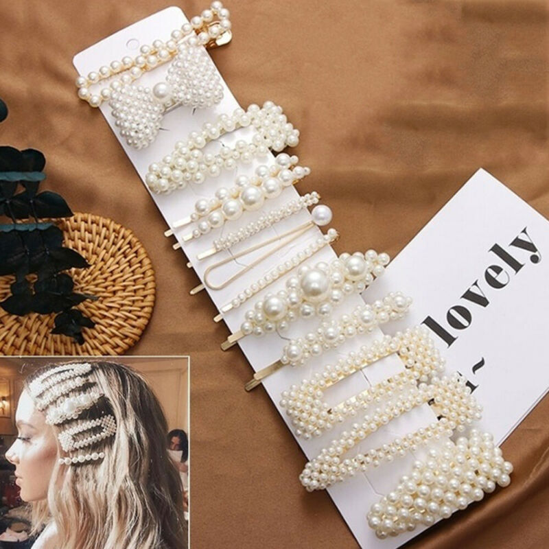 13Pcs/set Pearl Hair Clip Barrettes 2019 Fashion for Women H