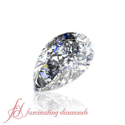 Pear Shaped Natural Diamond 0.50 Carat - GIA Certified Eye Clean Loose Diamond