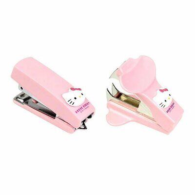 2-in-1 Sanrio Hello Kitty Pink Mini Portable Stapler Staple Remover Set