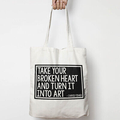 Take Your Broken Heart, Carrie Fisher organic cotton canvas tote bag - Take Your Canvas Bags
