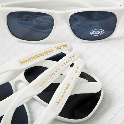 100 Personalized Sunglasses Beach Wedding Bridal Shower Birthday Party Favors](Personalized Wedding Sunglasses)