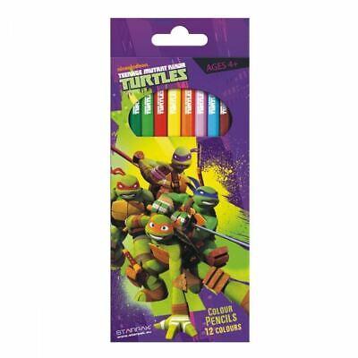 Teenage Mutant Ninja Turtle Packung 12 X Farbstifte - Ninja Turtle Farben
