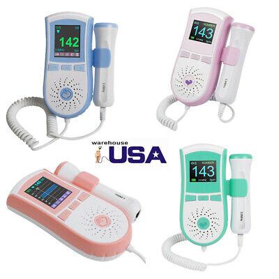 3mhz Probe Pocket Fetal Doppler Baby Heart Monitor Vascular Doppler Lcd Gel