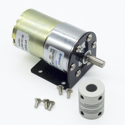 Dc 12v 100rpm Gear Box Motor 134.5 High Torque Reversible Motor Holder Coupling