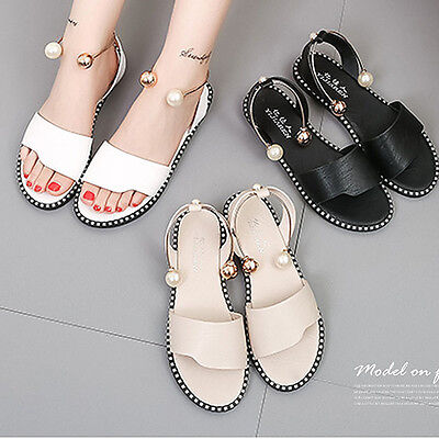 Women Flat Gladiator Toe Sandals  Peep ToeTthick Foot Ring Wild Strap Sandals