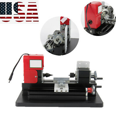 Usa Stock Small Motorized Metal Lathe Machine Saw Combined Diy Crafts Machine