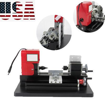Usa Stock Small Motorized Metal Lathe Machine Saw Combined Diy Crafts Machine