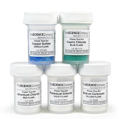 Nc-12053 Flame Test Chemical Kit Flame Color