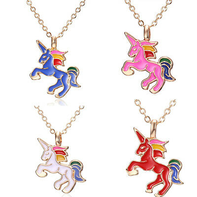Little Horse Pendant Necklace Chain Multi Kids Girl Costume Jewellery Party Gift - Little Girls Costume Jewelry