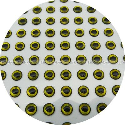 Wholesale 700pcs 3D Holographic Fish Eyes Oval Pupil 7mm Silver.Gold