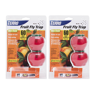 TERRO FRUIT FLY TRAPS NON TOXIC TRAP  T2502 INSECT  2 PACKS