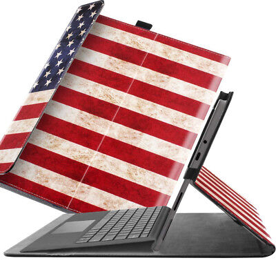 For Surface Go 10 Case [Compatible Keyboard] AmericanFlag (American Flag Keyboard)