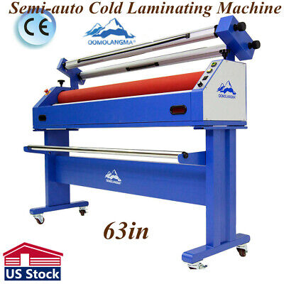 "New 65/"" AK-600 large electric cold roller laminator for mounting overlaminating"