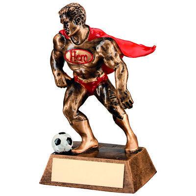 Football Super Hero Cape Award Fun Novelty Gifts Sport Trophy - FREE Engraving