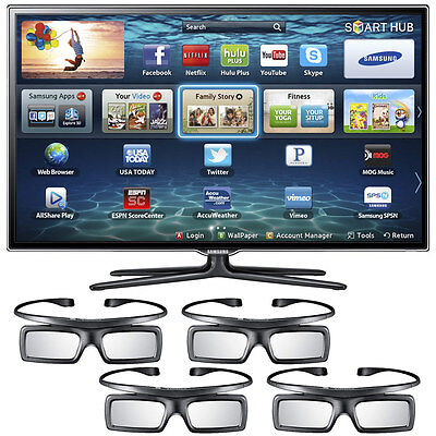 "Samsung UN40ES6580 40"" 3D LED SLIM HDTV 1080p 480 CMR Smart TV Built-In Wifi on Rummage"