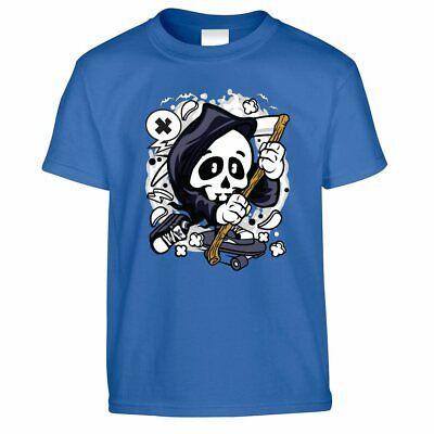 Halloween Costume Ideas Boys (Halloween Kid's T Shirt Costume Scary Skateboard Monster Demon Gift)