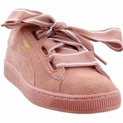 Puma Suede Heart Satin II Sneakers Casual    - Pink - Womens