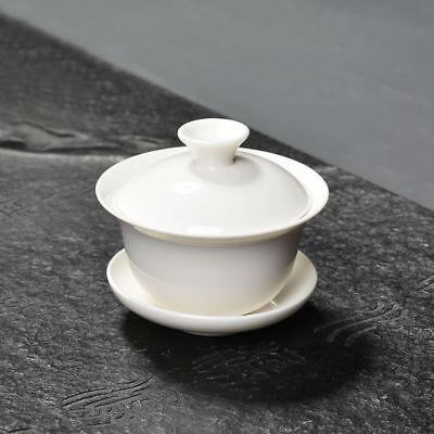 Mini White Gongfu Tea Porcelain Gaiwan 60ml 2oz for sale  China
