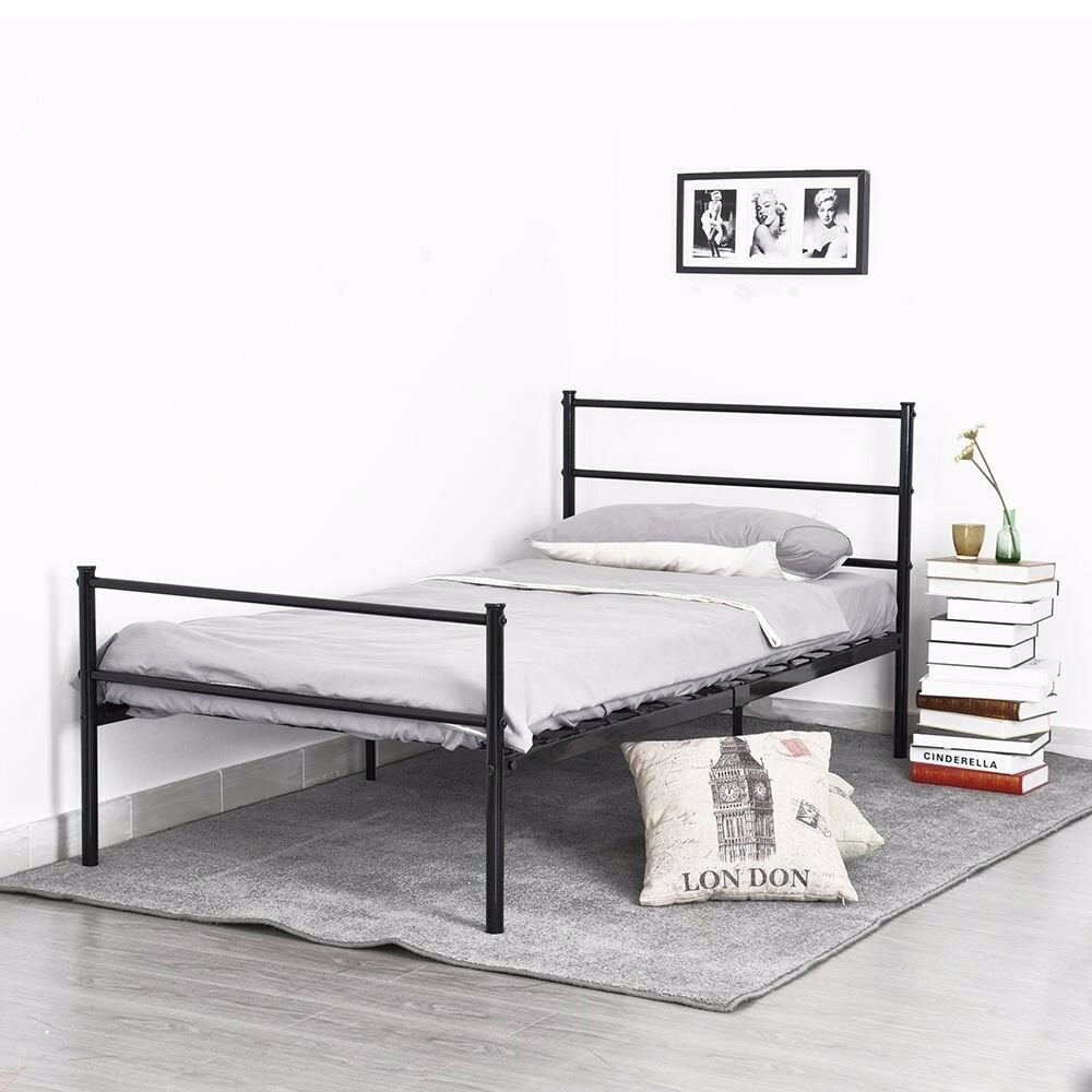 Brand new Single bed frame and nearly new mattress
